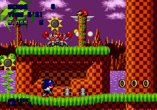 Play Dark Sound the Hedgehog (Sonic 1 hack) Online
