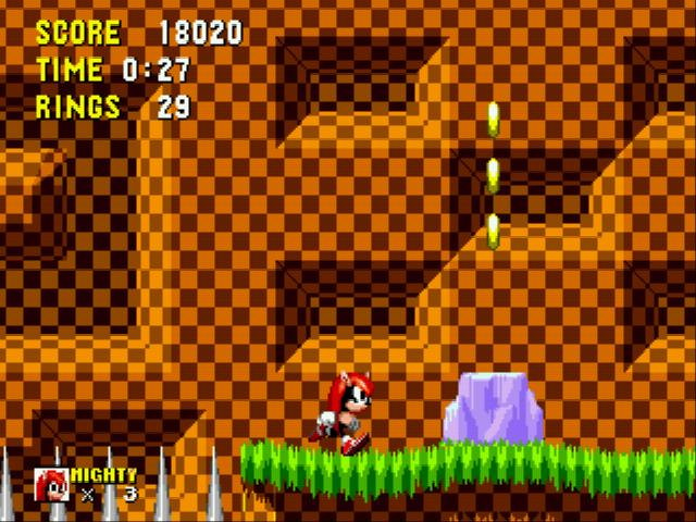 Play Mighty the Armadillo in Sonic 1 (Aquaslash's & Cinossu's Sprites) Online