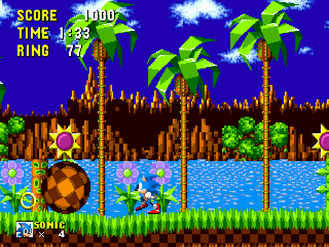 Play Sonic 1 Beta Remake Online
