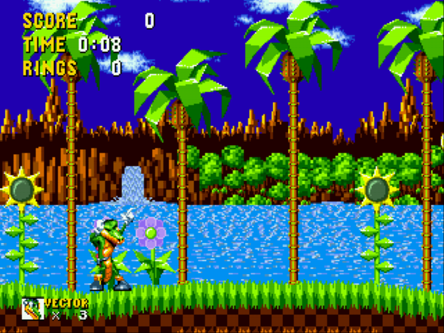 Play Vector The Crocodile In Sonic The Hedgehog Online Sega Genesis Classic Games Online